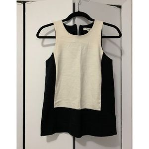 Madewell Black and White Structured Tank